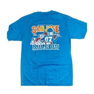 Vintage San Jose camel mile 85 ama racing t shirt
